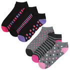 REDTAG Ladies Cotton Rich Trainer Liner Socks 4-8