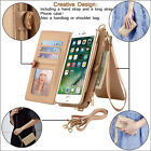 2 in 1 PU Leather Card Wallet Shoulder Bag Cover Case for iPhone 6S/7/7/Plus