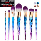 10 PCS Pro Makeup Set Powder Foundation Eyeshadow Eyeliner Lip Cosmetic Brushes