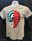 "MARVEL COMICS CAPTAIN AMERICA/RED SKULL ""YOU"" ""YES ME"" GREY T-SHIRT"