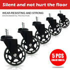 5/10/20 Pack Office Chair Rollerblade Style Soft Wheel Casters Ball Bearing Axle