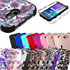 For Samsung Galaxy J3 Emerge Hybrid Case Shockproof Protective Hard Cover
