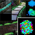 100Pcs/Lot Glow in The Dark Pebbles Luminous Stones Home Fish Tank Decoration US