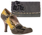 Ruby Shoo Sophie Shoes & Kailey Bag Sz 3 - 8 Olive Green Mary Jane Corsage