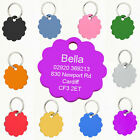 Personalised Colourful Cloud Dog Pet ID Tag Disc 25mm Or 30mm,Engraved Free