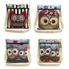 New Womens Embroidered Owl Tote Handbag Shoulder Bag Messenger Bag Satchel X5V7