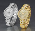AOYI Womens Ladies Bracelet Fashion Crystal Diamond Case Moon & Stars Dial Watch