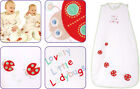 White Lady Bugs Baby Sleeping Bag - The Dream Bag