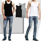 MENS SINGLET 100% COTTON GYM ATHLETIC VESTS TANK TOP SUMMER TRAINING VEST