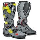 SIDI CROSSFIRE 2 SRS BLACK GREY FLUO MOTORCYCLE MX BOOT QUAD OFF ROAD