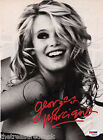 Claudia Schiffer signed autographed GUESS magazine page SUPERMODEL PSA DNA COA