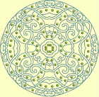 CELTIC QUILT CIRCLE SINGLES -Design 4- from Anemone Machine Embroidery-4 SIZES