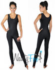 Sexy Shiny Lycra Black Sleeveless Dance Unitard Bodysuit Holiday Costume S-3XL