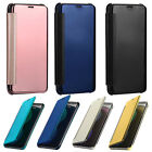 Luxury Window Sleep Wake Acrylic Leather Case Cover for Samsung Galaxy S8 Plus