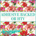 Floral Pattern #2 Adhesive Vinyl or HTV for Crafts Scrapbooking or Shirts Flower