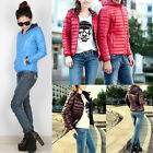 New Fashion Women Winter Outerwear Hooded Casual Solid Slim Down Jacket Overcoat