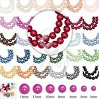 3/4/6/8/10/12/14mm Glass Pearl Spacer Beads Round Jewelry Finding Wholesale DIY