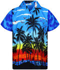Funky Hawaiihemd, Beach, Hawaiian Shirt Multi Kurzarm Front-Tasche