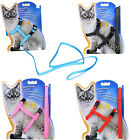 Cat Puppy Adjustable Harness Collar Nelon Leash Safety Animal Walking Lead Rope