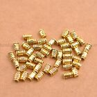 50/100Pcs Antique Silver/Gold/Bronze tube Charm Spacer Beads for Bracelet E3139