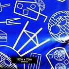 BBQ GRILLING TABLECLOTH~Vinyl~Flannel Back~52x70 Oblong/Oval~Patriotic/Blue~NEW