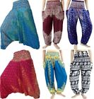 Harem Trousers Pants Hippy Alibaba Mens Womens Ladies Gypsy Ali Baba Jumpsuit