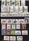 1980-1989  UNMOUNTED MINT  COMMEMORATIVE STAMPS IN YEAR SETS