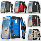 FOR LG PHONE MODELS TANK ARMOR HOLSTER CASE IMPACT SHOCKPROOF COVER+ FILM
