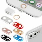 Rear Camera Cover + Home Button Ring + Anti Dust Plug For iPhone 7 plus Red