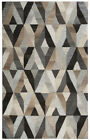Rizzy Rugs Gray Contemporary Mirrored Diamonds Shapes Area Rug Geometric SK337A