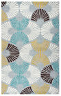 Rizzy Rugs Gray Shells Shapes Fanned Contemporary Area Rug Geometric AH9668