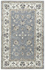 Rizzy Rugs Gray Traditional-European Petals Vines Area Rug Bordered VN9658
