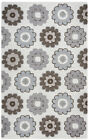 Rizzy Rugs Grey Floral Petals Repeat Contemporary Area Rug Geometric MB9538
