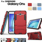 For Samsung Galaxy ON5 Case Hard Armor Slim Kickstand Protective Hybrid Cover