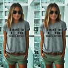 Fashion Women's Summer Tops Loose Tee Short Sleeve T shirt Casual Blouse New