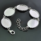 E807 Hot Upick 1/2/5pcs White Cabochon Setting Bracelet  Length19cm extend 4cm