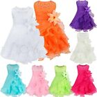 Baby Girls Formal Party Princess Wedding Pageant Tutu Kids Flower Bowknot Dress