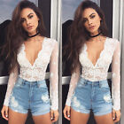 New Fashion Women Lace Tops Long Sleeve Floral Shirt Casual Blouse Loose T-shirt