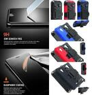 NP ARMOR Premium GLASS Screen Guard Protector + Holster Belt Clip Case For ZTE