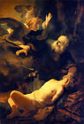 Dutch Baroque Bible art print: Abraham and Isaac by Rembrandt