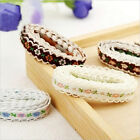 Embroidered Floral Lace Edge Trim Ribbon Wedding Bridal Sewing Craft 1 Yard