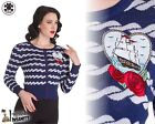 HELL BUNNY Marella ~ Rockabilly Sailor Cardigan ~ Pinup Nautical Plus Size 50s