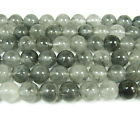 Cloud Gray Quartz Round Gemstone Beads~Guaranteed