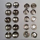 10 Easy Cover Metal Button Shells (19mm/22mm/29mm) for use with Button Maker