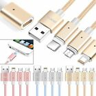 Magnetic Type C +Micro USB+ 8pin Data Sync Charging Cable Cord Phone Charger AU