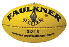 FAULKNER LEGEND FOOTBALL - AUSTRALIAN LEATHER - AUSTRALIAN MADE - YELLOW