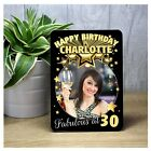 Personalised Happy Birthday Photo FRAME F58 18th 21st 30th 40th 50th Any Age
