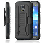 Heavy Duty Defender Hybrid Armor Holster Hard Case Belt Clip Cover For Phone