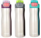 Contigo Autoseal Fit Trainer Stainless Steel Water Bottle 20-ounce Silver