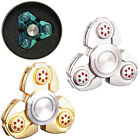 3 WAY FIDGET FINGER SPINNER HAND ULTIMATE SPIN ALUMINIUM EDC BEARING STRESS TOYS